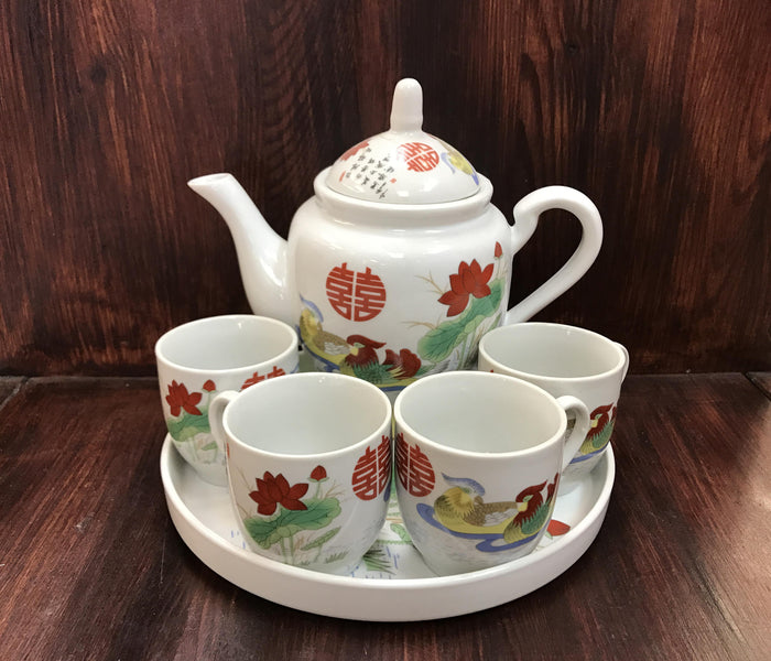 Mandarin duck tea set - OakPo Paper Co.