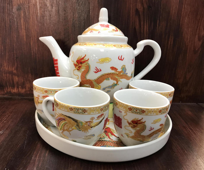 Dragon & Phoenix tea set - OakPo Paper Co.