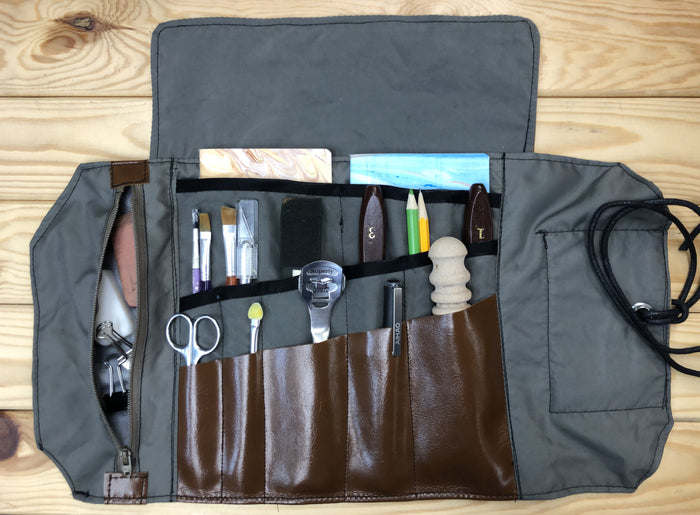 Water Resistant Faux Leather Tool Roll - OakPo Paper Co.