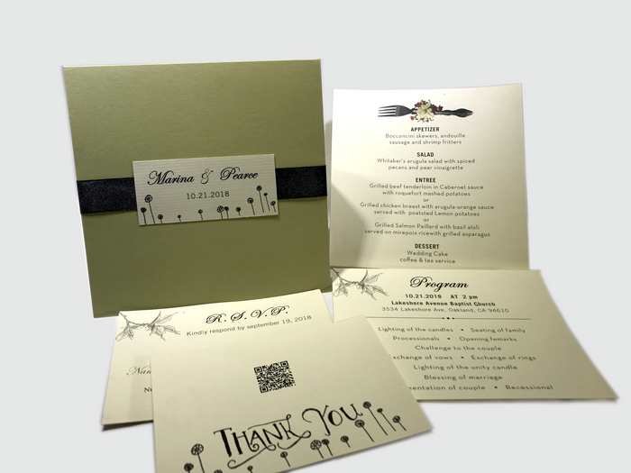 Best day of our lives Wedding Invitation Card -  #13 - OakPo Paper Co.