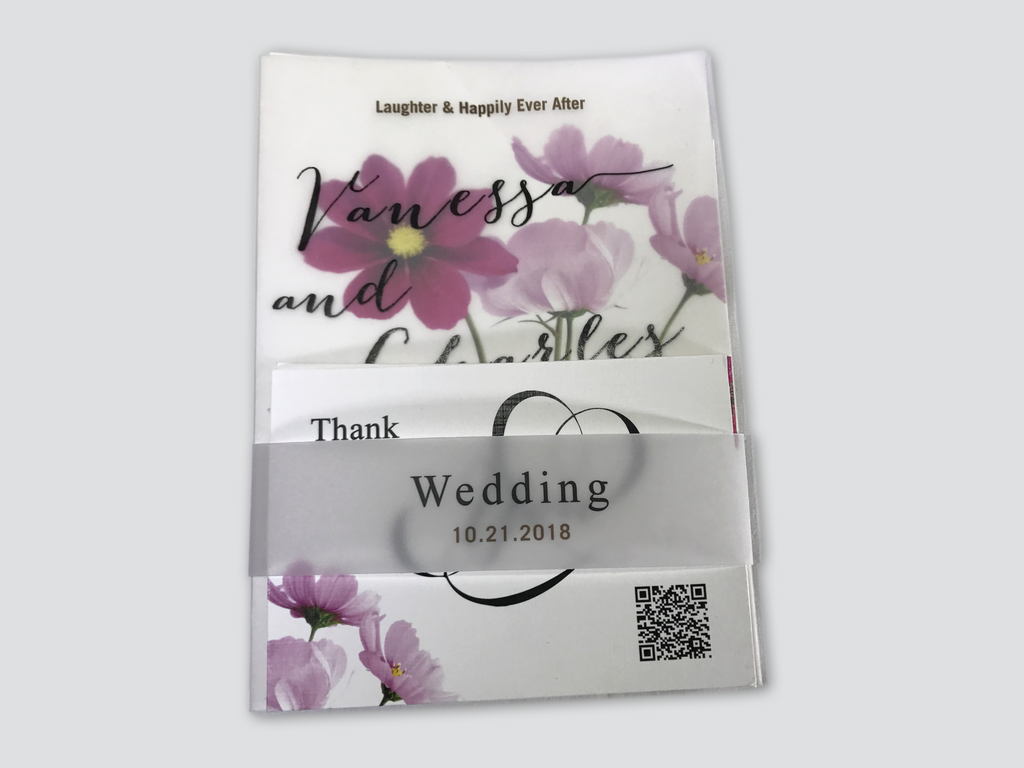 Cosmos Flower Wedding Invitation Card - #14