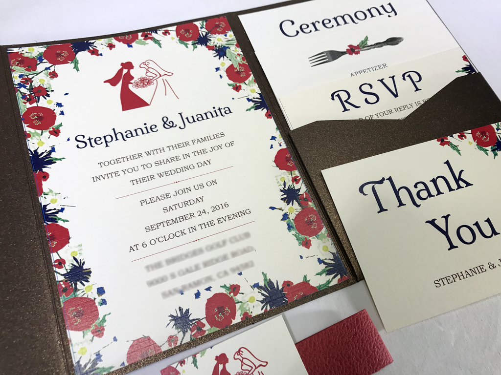 Tribade Wedding Invitation Card - # A7 - OakPo Paper Co.