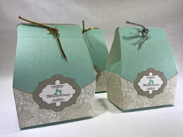 Light Blue Gift Box ( B04 ) - OakPo Paper Co.