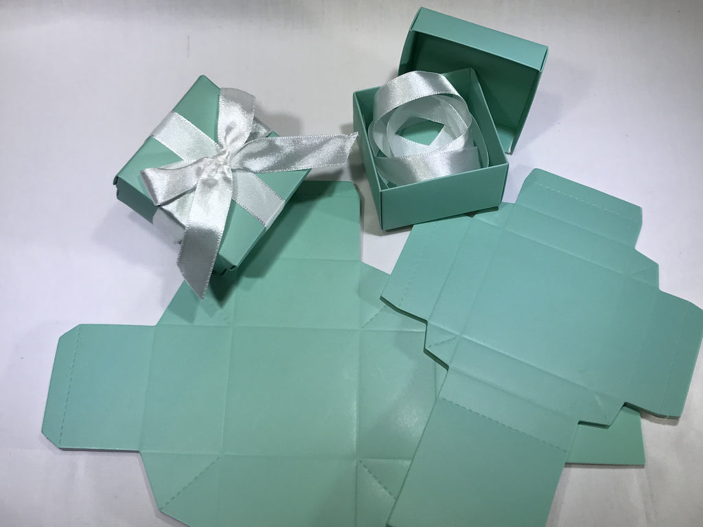 10 Turquoise Gift Box ( B16 ) - OakPo Paper Co.