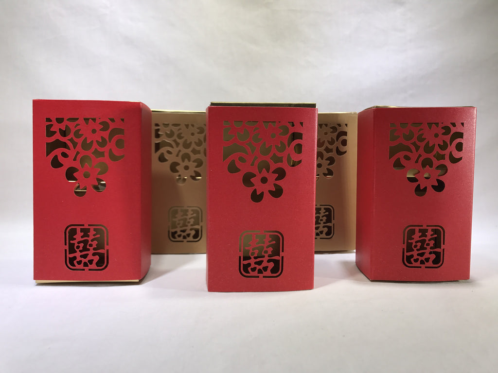 10 Double Happiness Gift Box ( B16 ) - OakPo Paper Co.