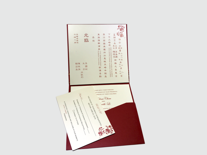 B8-Classic Chinese Wedding Square - OakPo Paper Co.