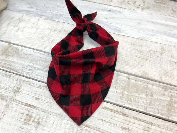 Personalized Buffalo Plaid Dog Bandana
