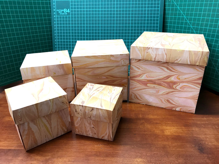 Custom Marble paper gift box set (5 Boxes) - OakPo Paper Co.