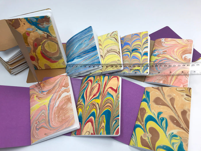 Sale 30% OFF--Kraft/ Whipped Berry/ Copper Cover Handmade Notebooks - OakPo Paper Co.