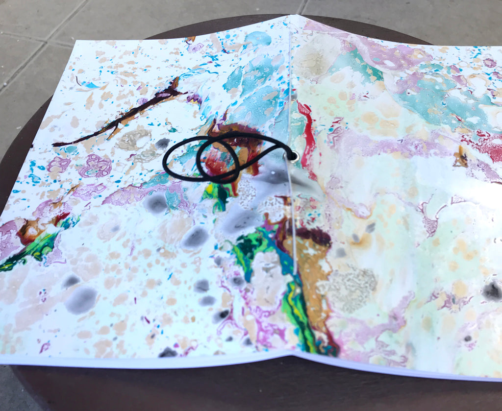 5.15''x8'' Marbled cover notebook - OakPo Paper Co.