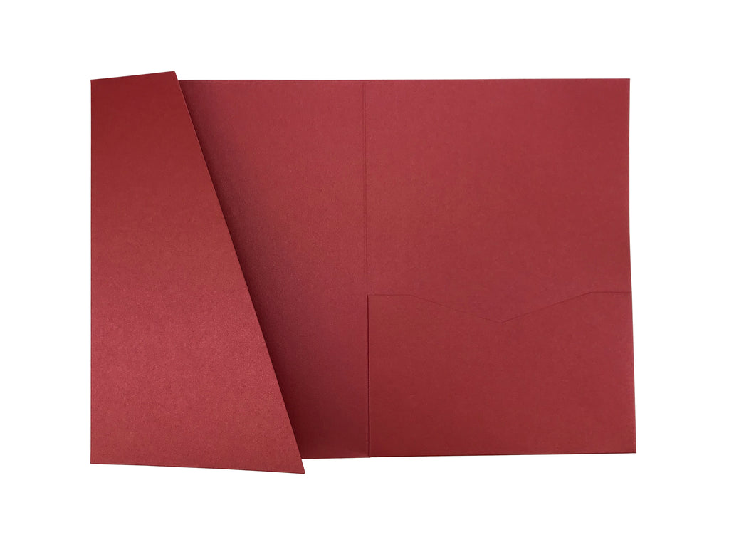 Ruby -- Acutie Trifold Pocket Invitations (5 1/8\'\' × 7 1/4 ...