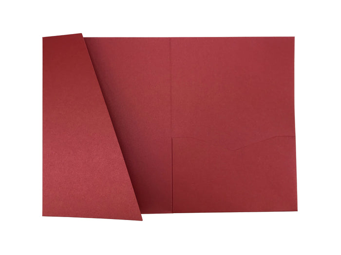 Ruby -- Acutie Trifold Pocket Invitations (5 1/8'' × 7 1/4'') - OakPo Paper Co.