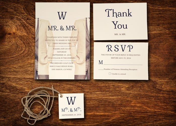 F3-Two Suits Wedding - OakPo Paper Co.