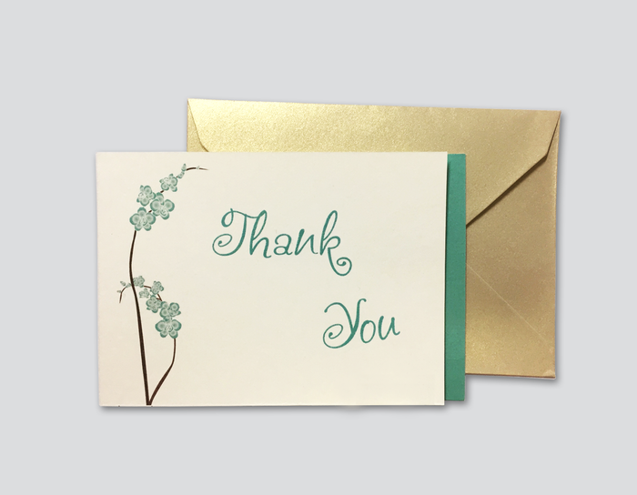 Thank You Cards # B - OakPo Paper Co.