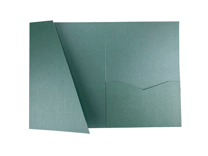 Lagoon -- Acutie Trifold Pocket Invitations (5 1/8'' × 7 1/4'') - OakPo Paper Co.