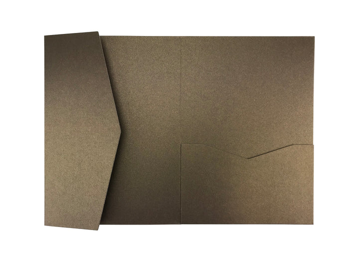 Chocolate --A7 Pocket Invitations Style B (5 1/8 × 7 1/4) - OakPo Paper Co.