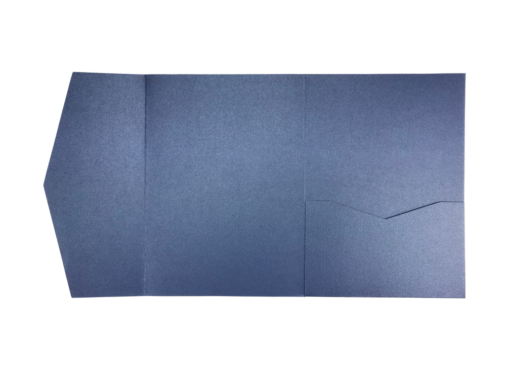 Sapphire -- A7 Pocket Invitations style B (5 1/8 × 7 1/4) - OakPo Paper Co.