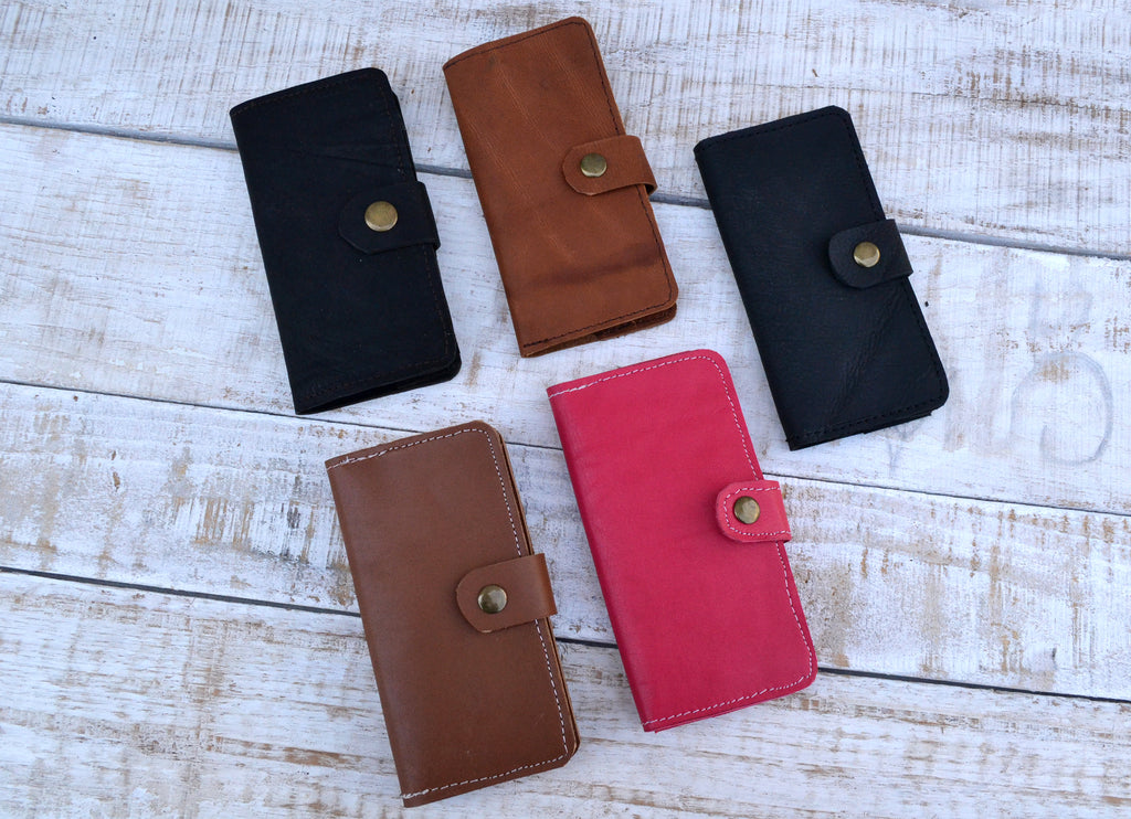 Leather iPhone Case, Wallet Case - OakPo Paper Co.