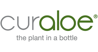 Curaloe the plant in a bottle | Logo