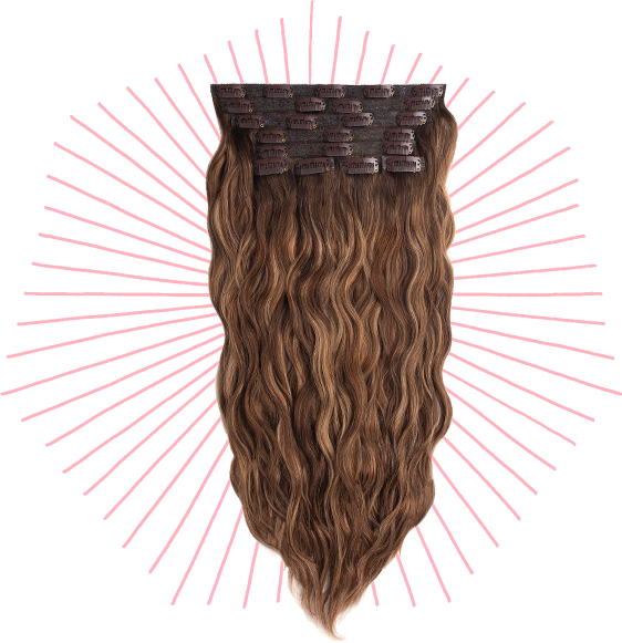 beach wave clip in extension