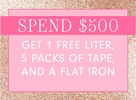 Spend $500 at Glam Seamless and receive free products.