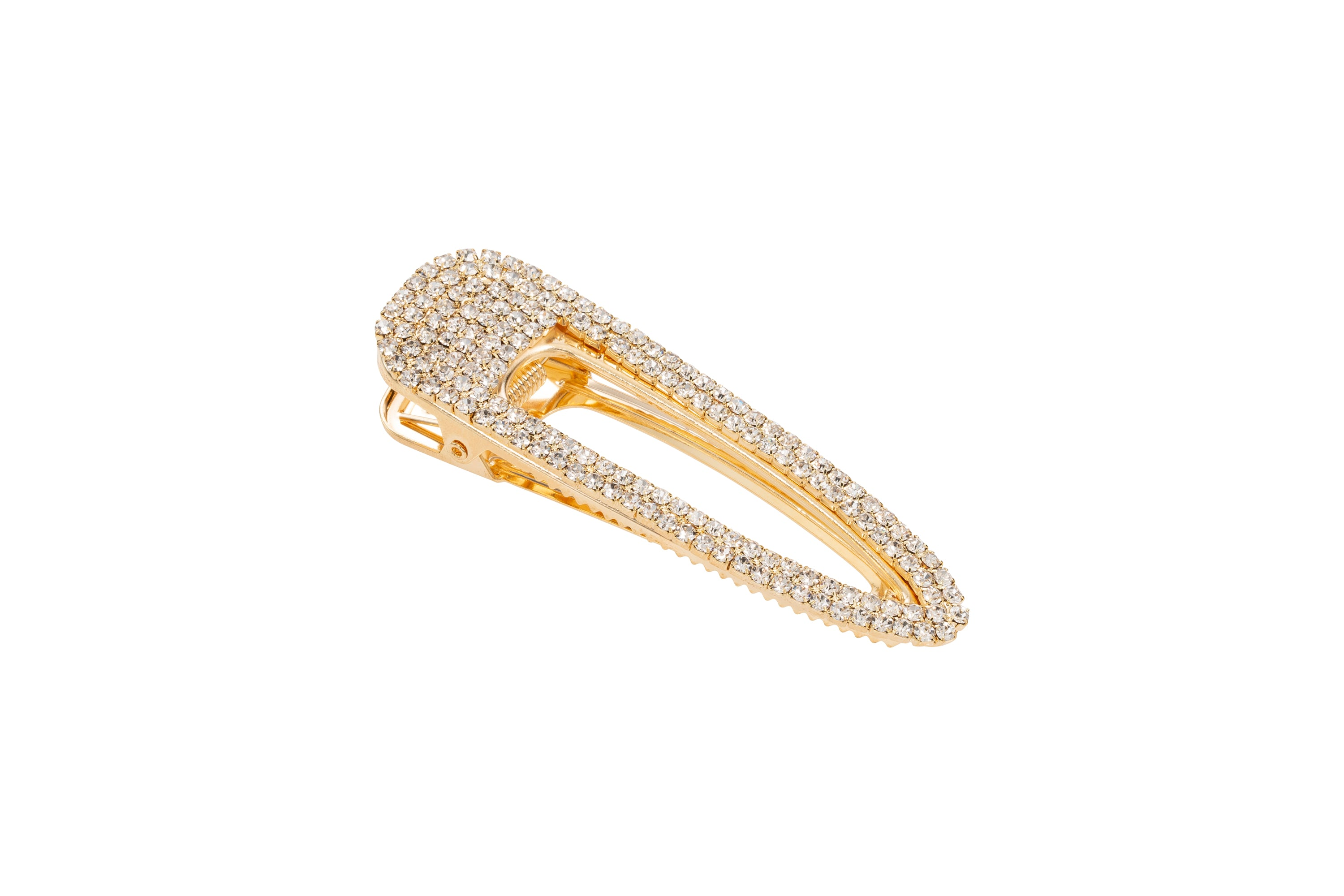 Glam Seamless Gold Crystal Barrette