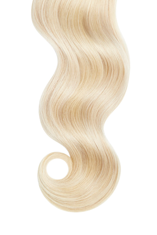 Platinum Blonde Skin Weft Hair Extensions Glam Seamless