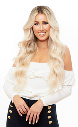 Skin Weft Hair Extensions Platinum Blonde