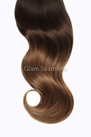 Chocolate Dip Ombre Invisi Weft Bundle