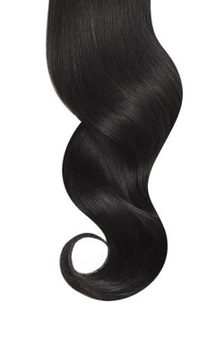 "26"" Natural Black Traditional Hair Weft Bundle"