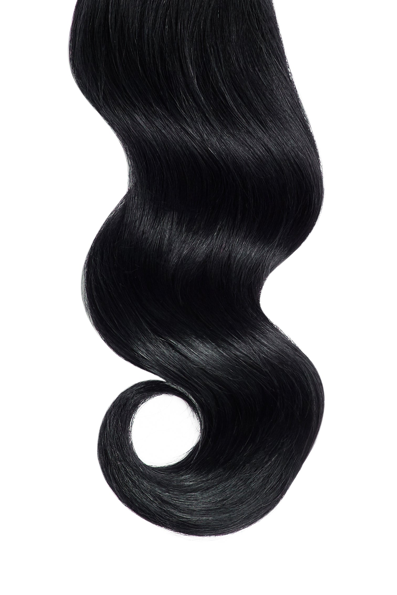 Jet Black Clip In Hair Extensions