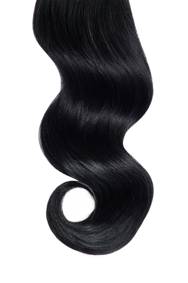 Jet Black Remy Tape In Hair Extensions