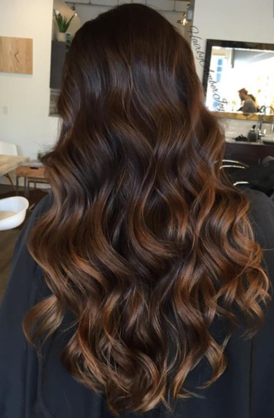 Hand Tied Weft Extensions Chocolate Dip Ombre