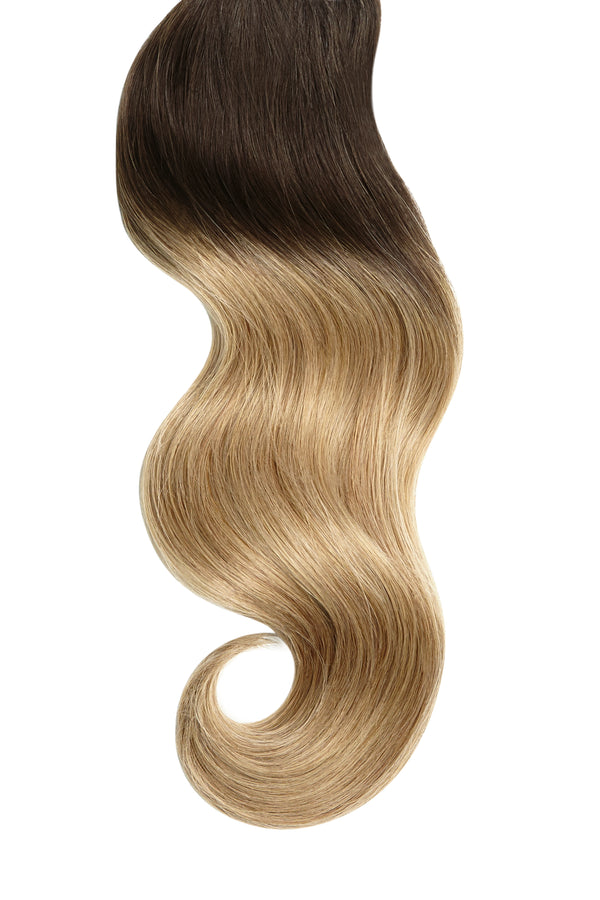 Dirty Blonde Ombre Clip In Hair Extensions