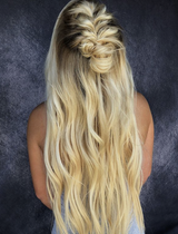 Traditional Hair Weft Bundle Golden Blonde