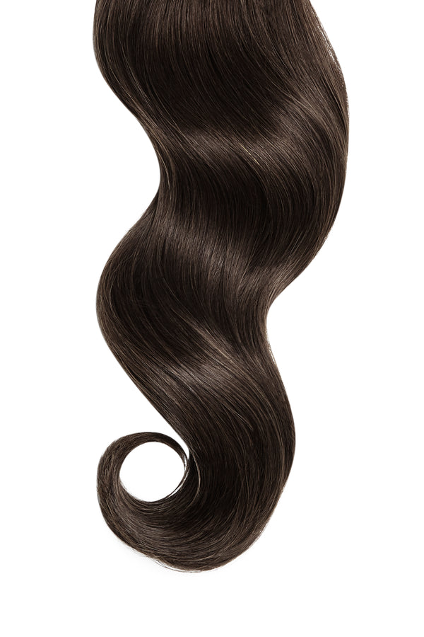 Dark Ash Brown Ultra Seamless Tape In Hair Extensions