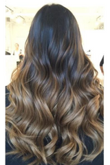 DIY Tape In Hair Extensions Honey Dip Ombre