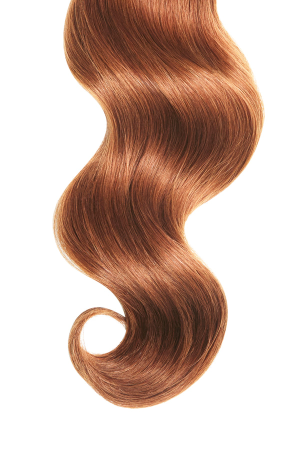 Red Pumpkin Spice Ultra Seamless Tape In Hair Extensions