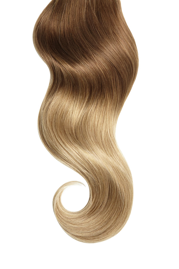 Caramel Honey Sombre Single Clip Volumizer