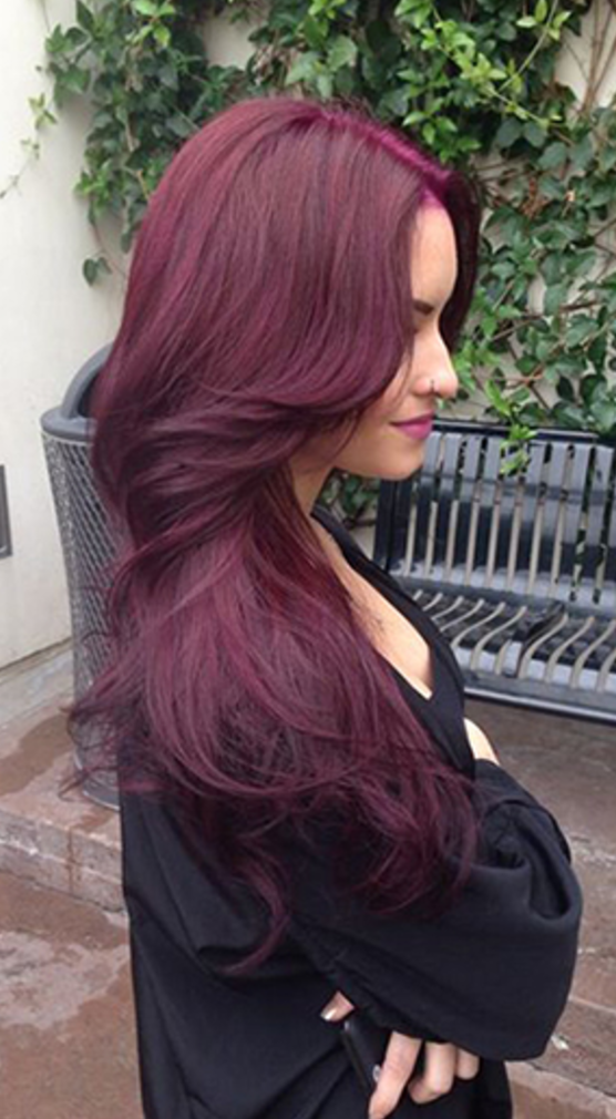 Cherry Wine Clip In Hair Extensions