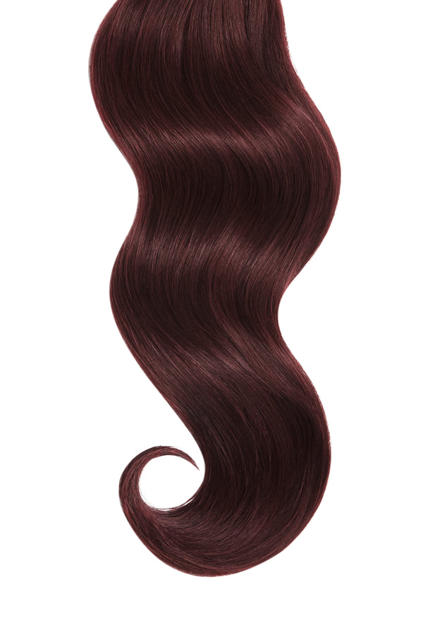 Merlot Red Ultra Seamless Tape In Hair Extensions