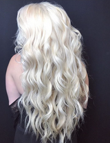 Platinum Ash Blonde remy tape in