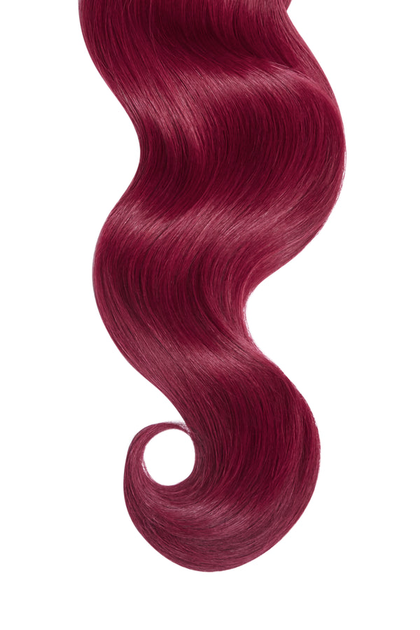Red Cherry Wine Ultra Seamless Tape In Hair Extensions