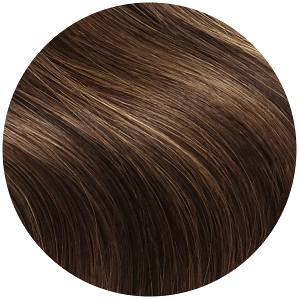 Brunette Highlight Ultra Seamless Tape In Hair Extensions