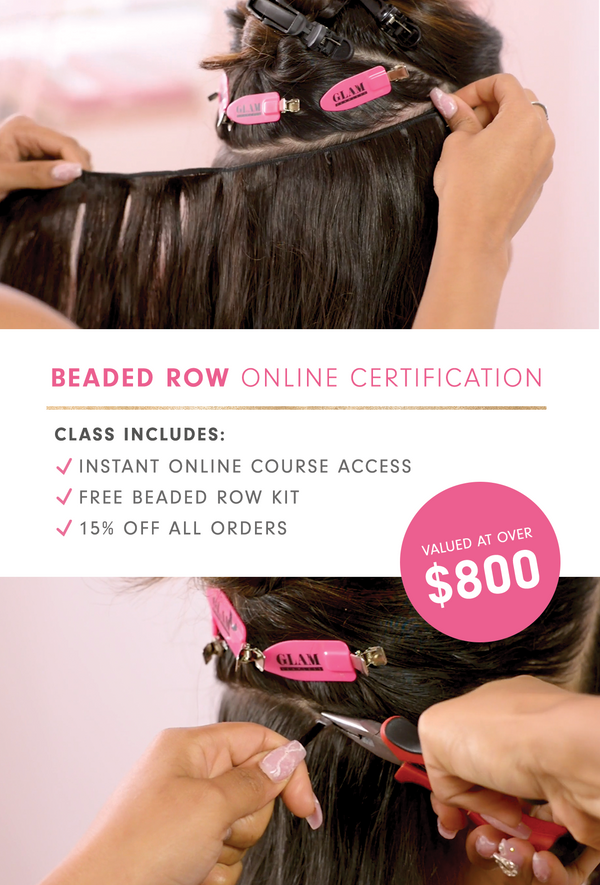 Glam Seamless Virtual beaded row weft extensions course