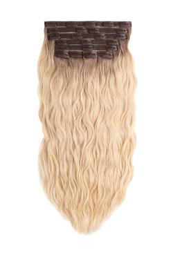 blonde ombre wavy clip in