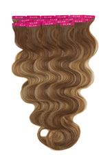 Bahamian Balayage Wavy Tape In Hair Extensions beachy wave
