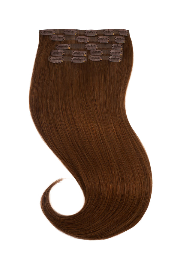 Light Chocolate Brown Clip In hair Extensions