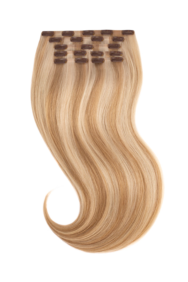 Dirty Blonde Highlighted Clip In Hair Extensions
