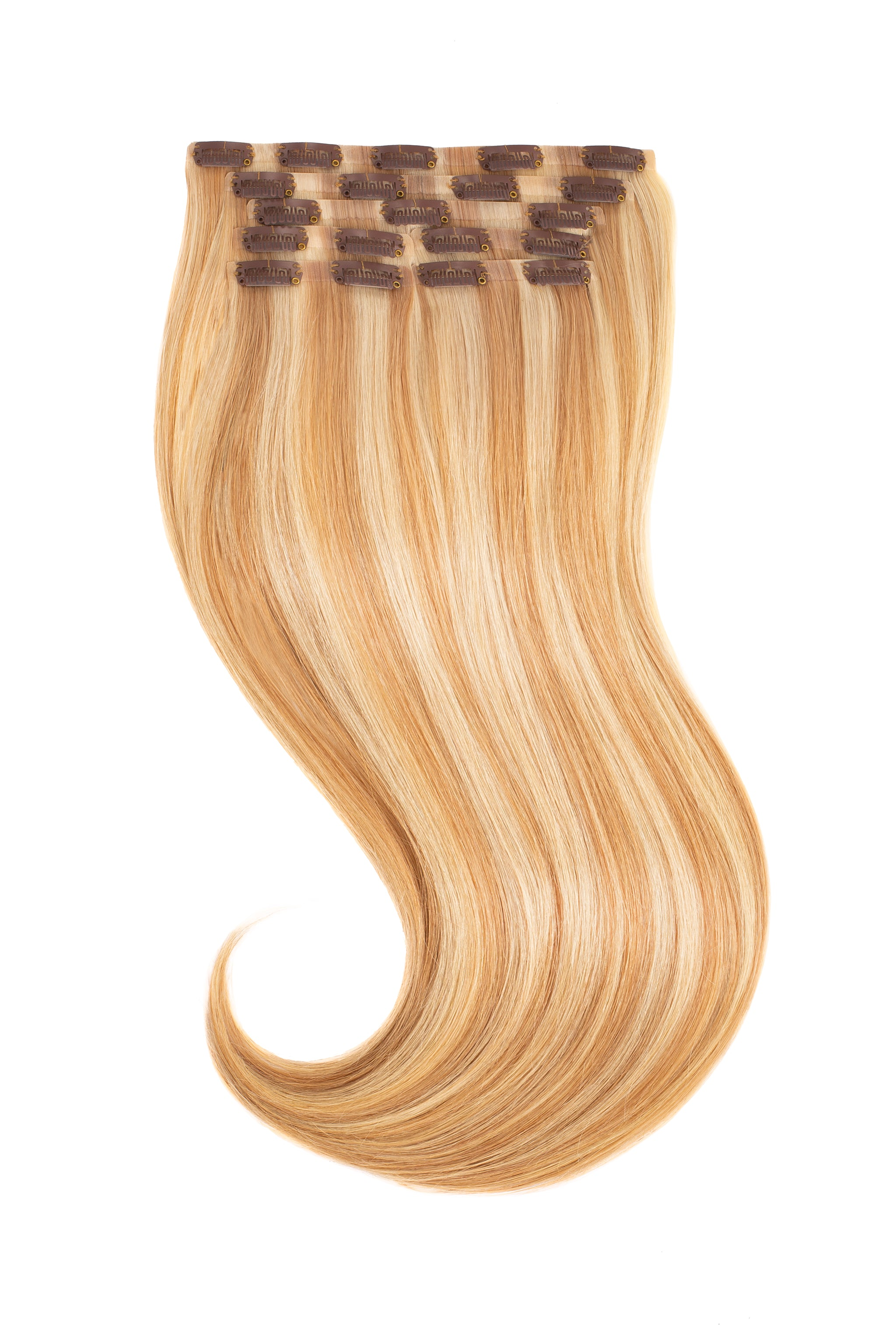 Honey Blonde Highlights 18 22 Clip In Glam Seamless Glam Seamless Hair Extensions